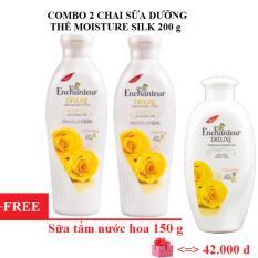 Bán Mua Combo 2 Chai Sữa Dưỡng Thể Enchanteur Moisture Silk 200G Tặng 1 Chai Sữa Tắm Nước Hoa Enchanteur 150 G Mới Vietnam