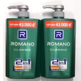 Qua Combo 2 Chai Tắm Gội Cao Cấp Romano Classic 650Ml Chai Tặng 5 Goi Dầu Gội Romano Classic Trong Hồ Chí Minh