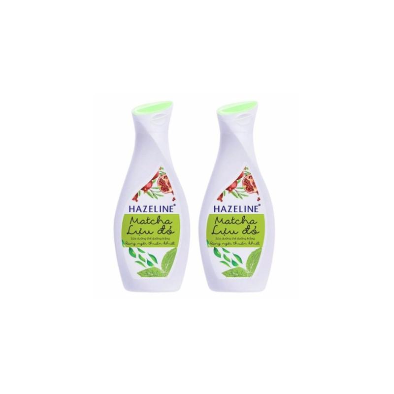 Combo 2 Sữa Dưỡng Thể Hazeline Dưỡng Trắng Da Matcha Lựu Đỏ  (230ml / Chai) nhập khẩu