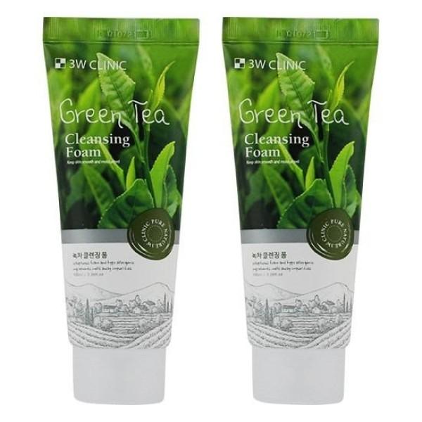 [HCM]Combo 2 Sữa Rửa Mặt Chiết Xuất Từ Trà Xanh 3W Clinic Green Tea Foam Cleansing (100ml)