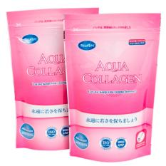 Combo 2 Thực Phẩm Chức Năng Aqua Collagen Nguyên Chất Từ Cá Bổ Sung Collagen Peptide Sinh Học Cho Cơ Thể (100g / Túi x2)