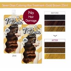 Ôn Tập Combo 2 Thuốc Nhuộm Toc 7 Ngay Missha 7 Days Coloring Hair Treatment Gold Yellow 25Mlx2