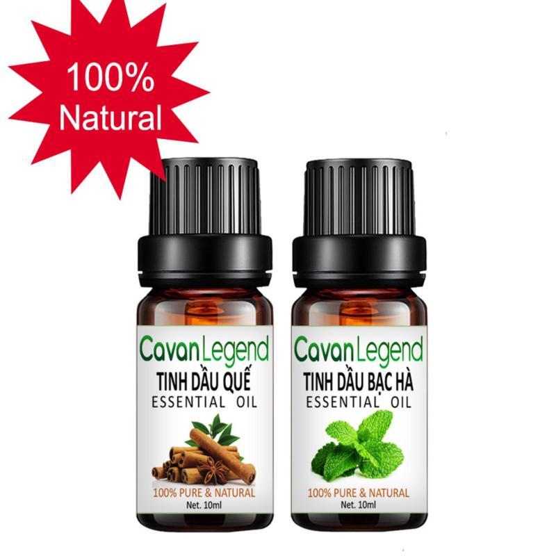 Combo 2 tinh dầu thiên nhiên Cavan Legend quế 10ml và bạc hà 10ml