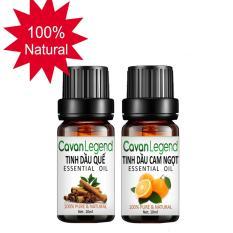 Combo 2 tinh dầu thiên nhiên Cavan Legend quế 10ml và cam ngọt 10ml chính hãng