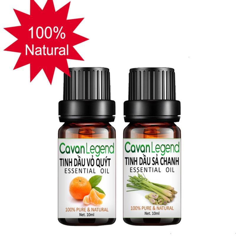 Combo 2 tinh dầu thiên nhiên Cavan Legend vỏ quýt 10ml và sả chanh 10ml nhập khẩu