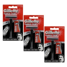 Combo 3 dao cạo râu Gillette Super Thin giá rẻ