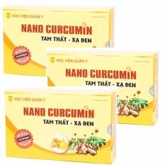 Combo 3 hộp Nano curcumin tam thất xạ đen hỗ trợ điều trị dạ dày.