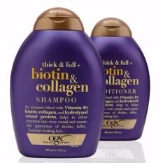 Hình ảnh Combo bộ dầu gội và xả chống rụng và kích thích mọc tóc Thick & FullOrganix Biotin &Collagen