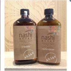 Hình ảnh Combo cặp dầu gội - xả dưỡng phục hồi tóc Nashi Argan 500ml