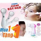 Mua Combo May Massage Mặt Thẩm Thấu Kem Dưỡng Va May Mat Xa Chăm Soc Da Mặt 5 Trong 1 Beautycare Massager Trong Hà Nội