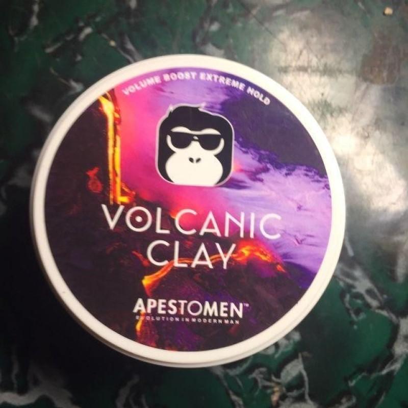Sáp vuốt tóc Combo Volcanic Clay và Lược tròn tạo kiểu tóc dành cho nam giới giá rẻ