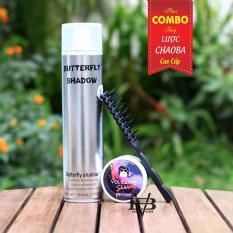 COMBO Sáp vuốt tóc Apestomen Volcanic Clay 80ml Singapore + Gôm xịt tóc Butterfly Shadow 320ml + Tặng lược tạo kiểu cao cấp Chaoba