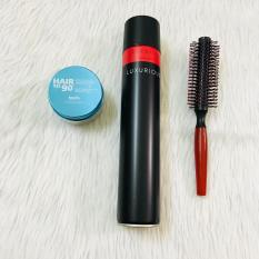 Combo sáp vuốt tóc Kanfa + gôm Luxurious + lược tròn
