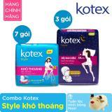 Bán Combo Kotex Style Kho Thoang Tặng 1 Tuần Lộc Nhồi Bong Noel Rẻ Nhất