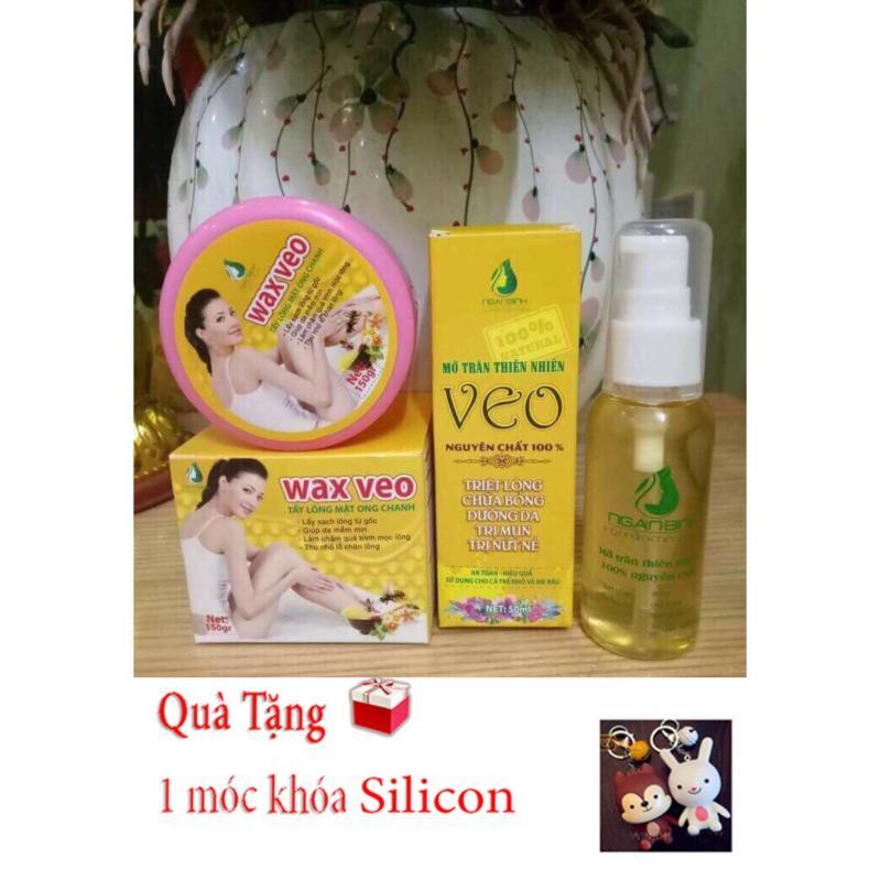 Combo Wax + Mỡ Trăn(dạng xịt)- Triệt lông vĩnh viễn- Tặng Móc khóa Silicon nhập khẩu
