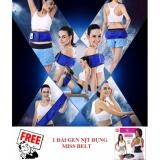 Mua Đai Massage Tan Mỡ Bụng Vibroaction X5 Xanh Tặng 1 Đai Gen Nịt Bụng Miss Belt