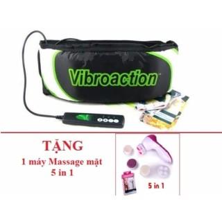 Đai massage thon gọn bụng Vibroaction (Đen) + Tặng kèm 1 máy Massage mặt 5 in 1 thumbnail