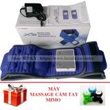 Đai Mat Xa Giảm Mỡ Bụng X5 Tich Hợp Pin Xanh Đen Tặng 1 May Massage Cầm Tay Mimo Nguyên