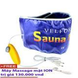Đai Xong Hơi Giảm Beo Thế Hệ Mới Sauna Belt Vang Tặng May Massage Mặt Y1200 Hang Nhập Rẻ