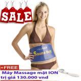 Bán Đai Xong Hơi Giảm Beo Thế Hệ Mới Sauna Belt Xanh Tặng May Massage Mặt Y1200 Hang Nhập Rẻ Hà Nội