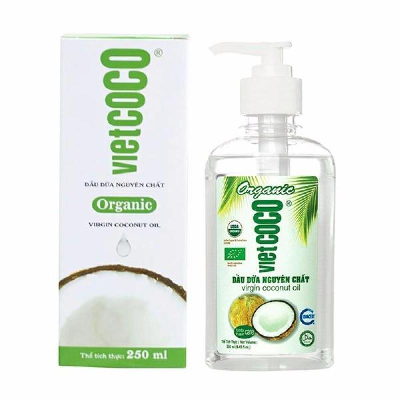 Dầu Dừa Nguyên Chất Vietcoco 250ml - Chai Xịt nhập khẩu