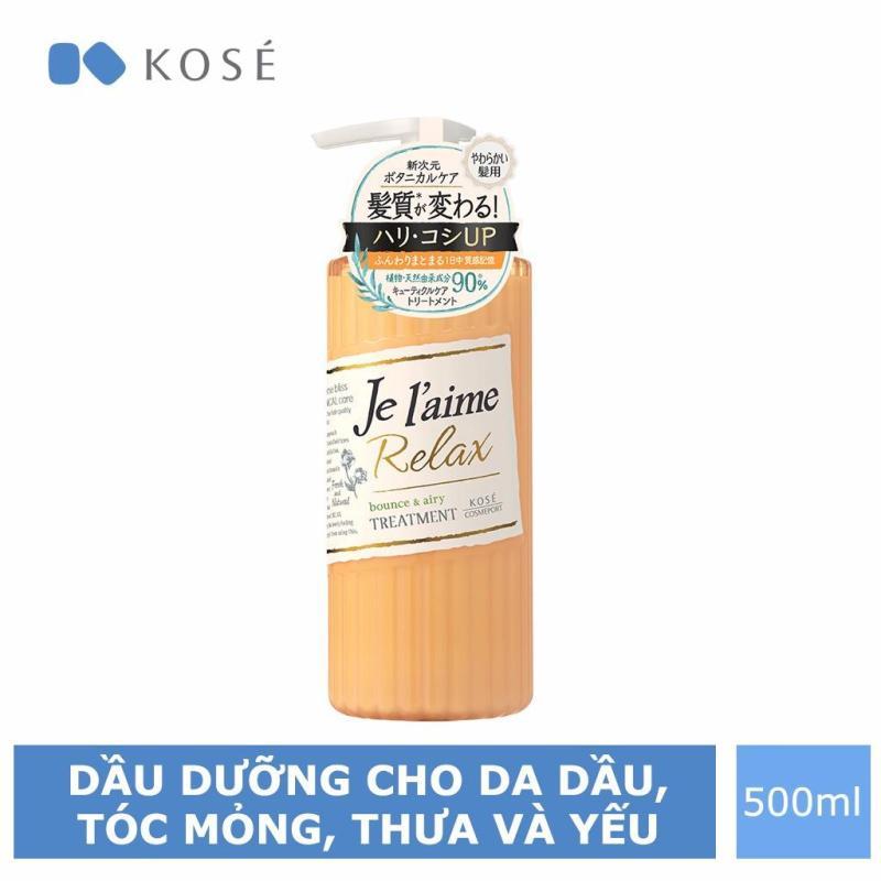 Dầu Dưỡng Tóc Kosé Cosmeport Je laime Relax Treatment Bounce & Airy 500ml nhập khẩu