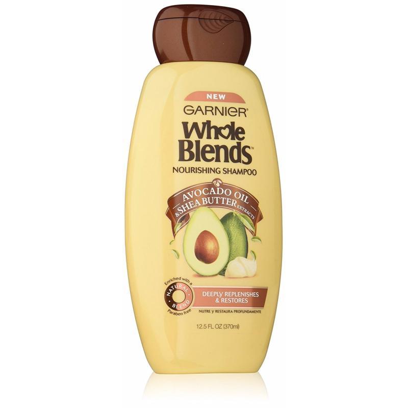 Dầu gội chiết xuất trái bơ & shea butter Garnier Whole Blends Nourishing Avocado Oil & Shea Butter Shampoo 370ml (Mỹ) giá rẻ