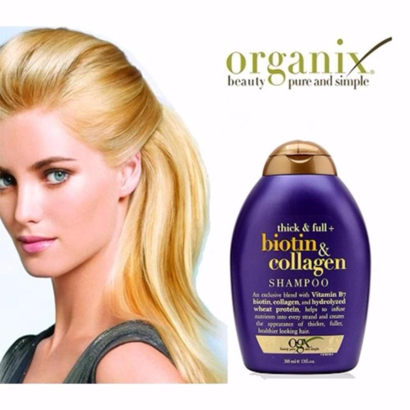 Dầu gội chống rụng và kích thích mọc tóc Thick & FullOrganix Biotin &Collagen