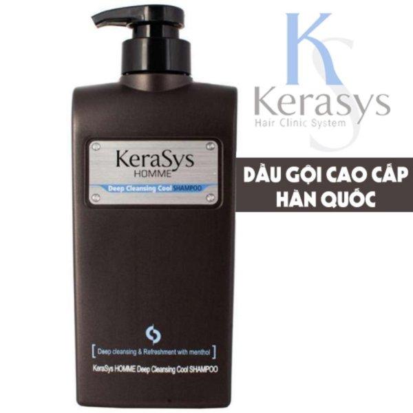 Dầu gội nam loại bỏ bụi bẩn các chất nhờn trị gầu Kerasys Homme Deep Cleansing Cool Shampoo Hàn Quốc 550ml - Hàng Chính Hãng giá rẻ