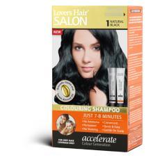 Dầu gội nhuộm tóc Lovers Hair Salon Colouring Shampoo #1 Natural Black 2x60ml