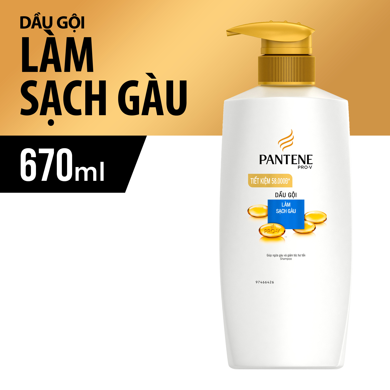 Image result for Dầu gội PANTENE sạch gàu 670g