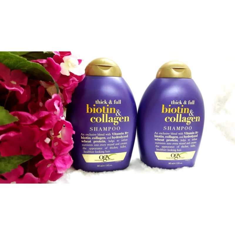 Dầu gội trị rụng tóc OGX Biotine & Collagen - 385ml