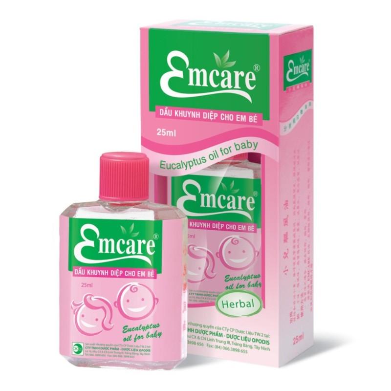 Dầu khuynh diệp cho em bé Emcare 25ml nhập khẩu