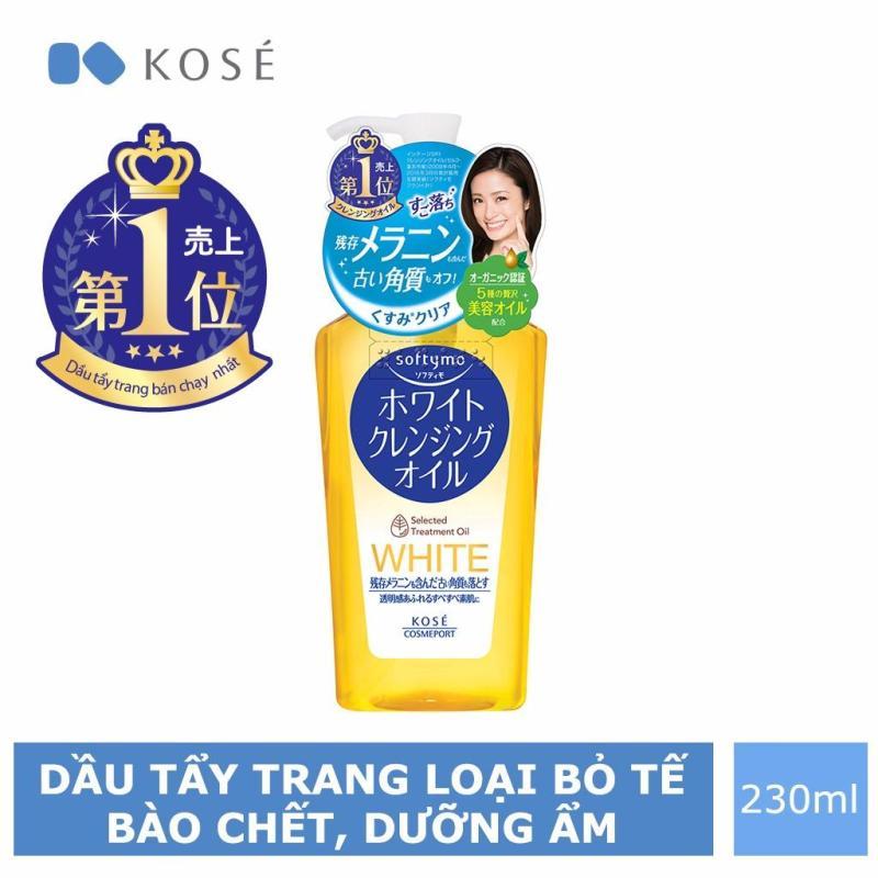 Dầu Tẩy Trang Kosé Cosmeport Softymo White Cleansing Oil 230ml nhập khẩu
