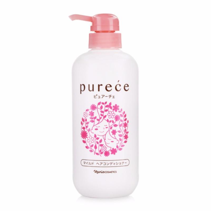 Dầu xả nuôi dưỡng tóc suôn mượt Naris Purece Mild Hair Conditioner Lavender 550ml nhập khẩu