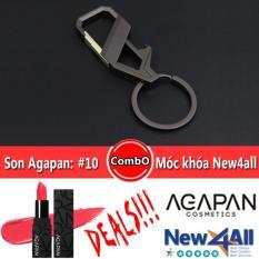 Chiết Khấu Discount Moc Khoa Va Son Agapan 10 Pitapat Lipstick Li Dạng Thỏi Hồng Hoa Đăng Agapan