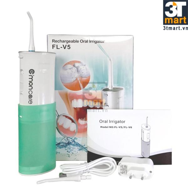 Dụng cụ làm sạch răng miệng sạc điện không dây CMON CARE siêu gọn (Xanh lá)