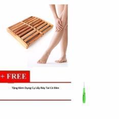 Dụng Cụ Massage Chân Bằng Gỗ Cao Cấp + Tặng Kèm Dụng Cụ Lấy Ráy Tai Có Đèn