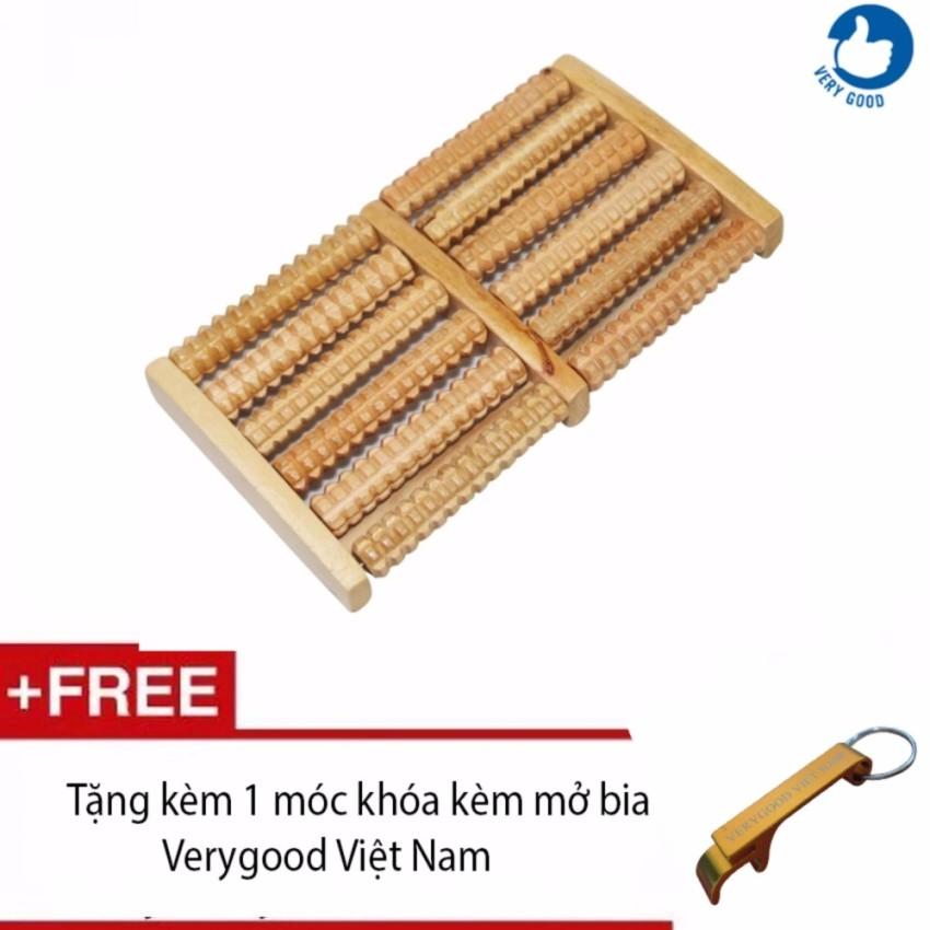 Hình ảnh Dụng Cụ Massage Chân Bằng Gỗ + Tặng kèm 1 móc khóa kèm mở bia Verygood Việt Nam