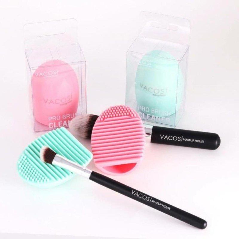 Dụng cụ vệ sinh cọ quả trứng Vacosi Pro Brush Cleanser (Hồng) (Hàng Chính Hãng)
