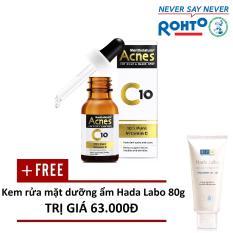 Hình ảnh Dung dịch Vitamin C dưỡng da Acnes C10 15ml - Tặng 1 Kem rửa mặt dưỡng ẩm Hada Labo Advanced Nourish Cleanser 80g
