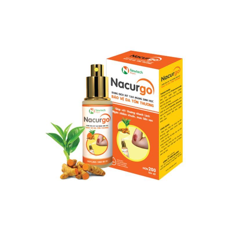 Dung dịch xịt bao phủ vết thương Nacurgo 12ml nhập khẩu