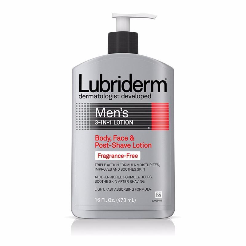 Dưỡng thể không mùi cho nam giới Lubriderm Mens 3-In-1 Fragrance-Free Lotion 473ml (Mỹ)