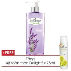 Ôn Tập Enchanteur Sữa Tắm Enchanteur Naturelle Hương Lavender 510G Tặng Xịt Ngăn Mui Delightful 75Ml