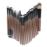 Esogoal 20 Pieces Makeup Brush Set Professional Face Eye Shadow Eyeliner Foundation Blush Lip Powder Liquid Cream Cosmetics Blending Brush Tool Gold Black Intl Mới Nhất