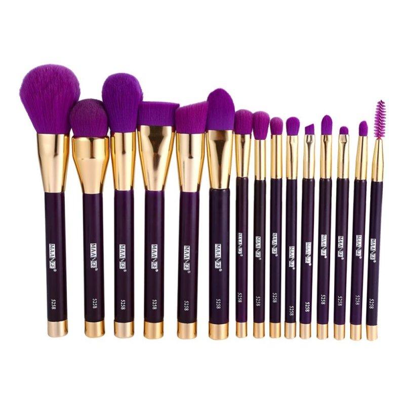 Fashion Makeup Brush Set Cosmetic Tool(15pcs purple brushes) - intl