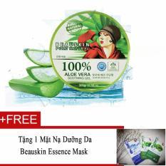 Bán Gel Dưỡng Da Đa Năng Chiết Xuất 100 Lo Hội Beauskin Aloe Vera Soothing Gel 100 300G Tặng 1 Mặt Nạ Dưỡng Da Beauskin Essence Mask Nhập Khẩu