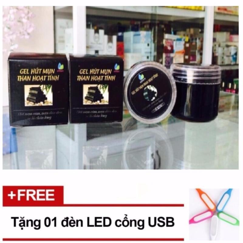 Gel hút mụn than hoạt tính + Tặng 1 đèn LED cổng USB nhập khẩu