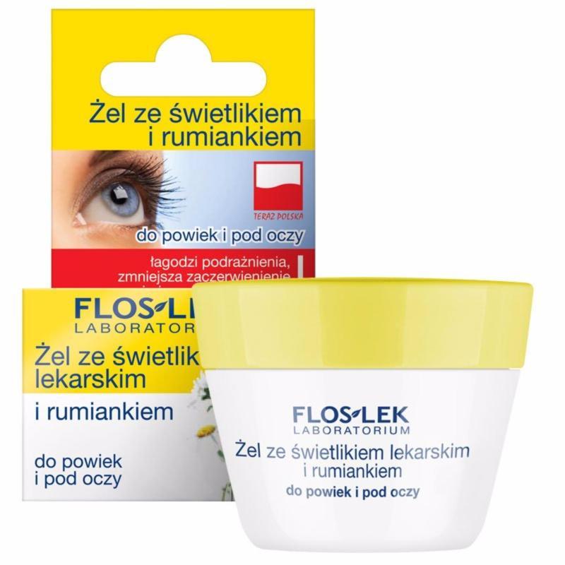 Gel trị quầng thâm và ngăn ngừa bọng mắt Floslek - eyebright và hoa cúc 10g