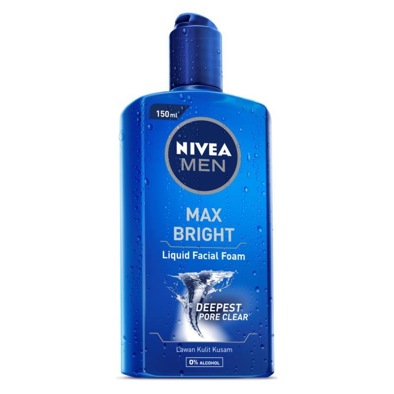 Gel rửa mặt NIVEA MEN Max Bright 150ml